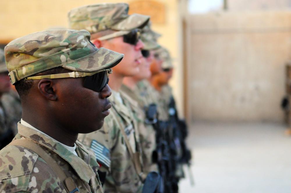 PRT Farah Security Force Promotions on FOB Farah