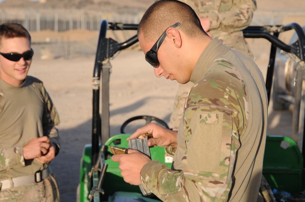 PRT Farah rifle qualification range