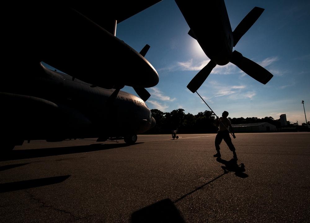 C-130 sprays away mosquitoes