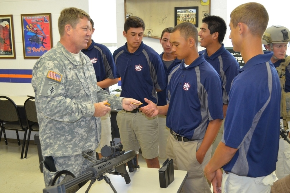 NC Guard soldiers Host National Youth Baseball Team