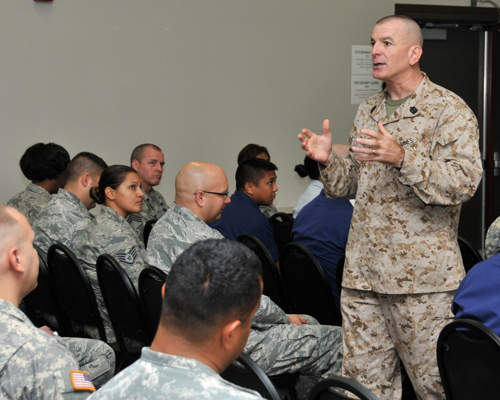 Senior enlisted leader to chairman of the joint chiefs visits Ellington Field