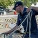 Sailor secures brow on USS Bulkeley