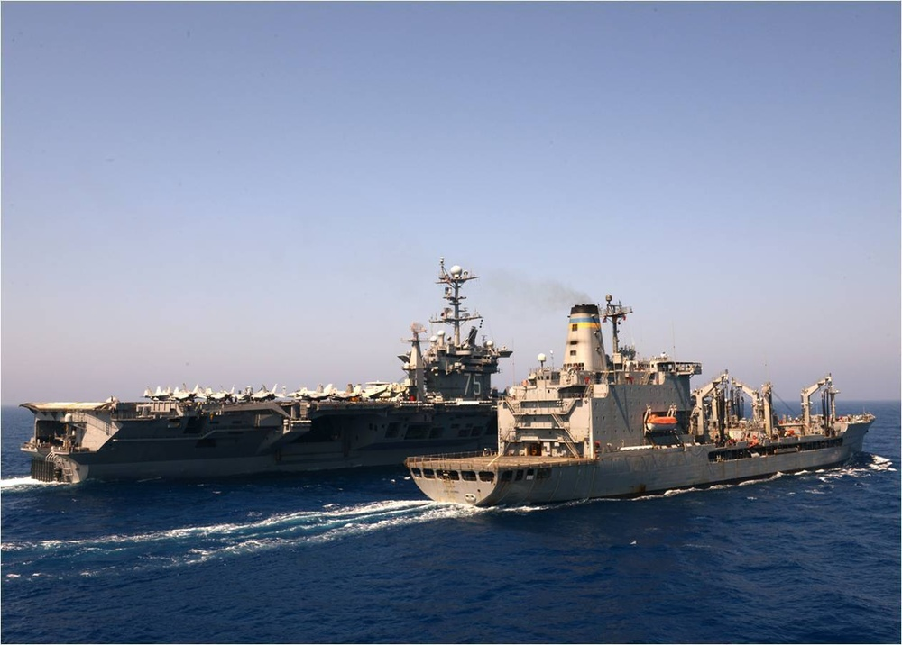 USS Truman refueling-at-sea