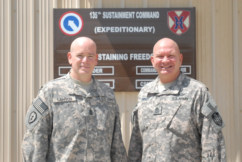 Soldiers Shave Head To Show Support