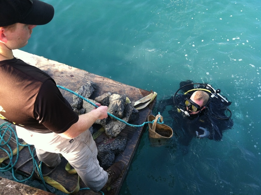 Army divers support ongoing tsunami repairs during training exercise