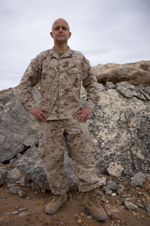 Marine leaves 'no rock unturned' creating deployment art