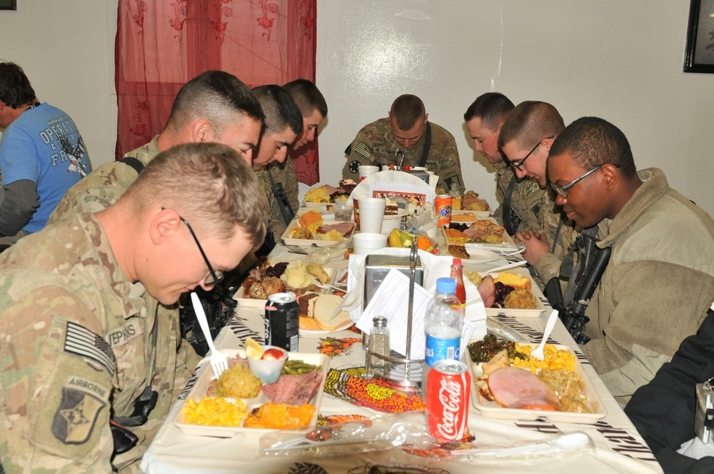 A Thanksgiving Day feast away from home