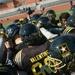 East team huddles on the field