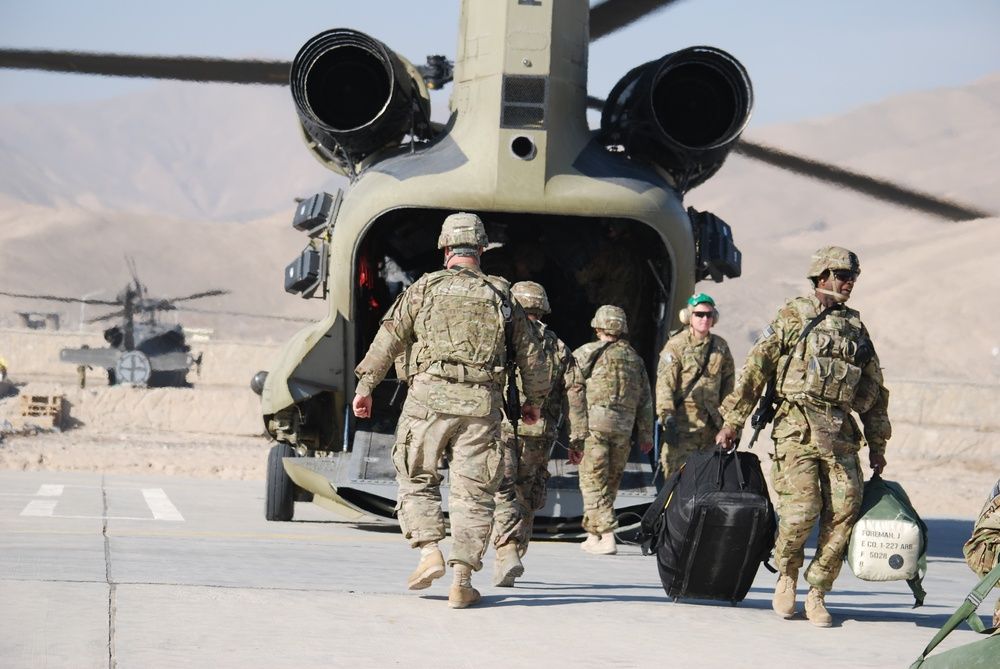 Troops arrive at FOB Khilaguy
