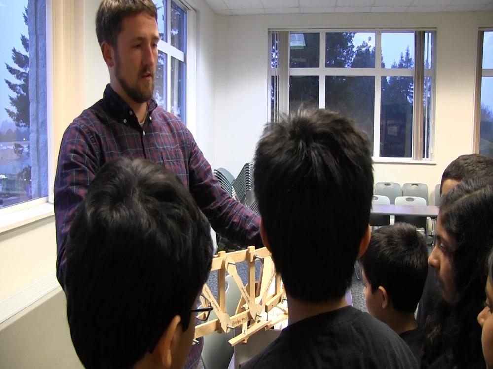 Corps engineers consult with Dragon Ninjas on bridge design