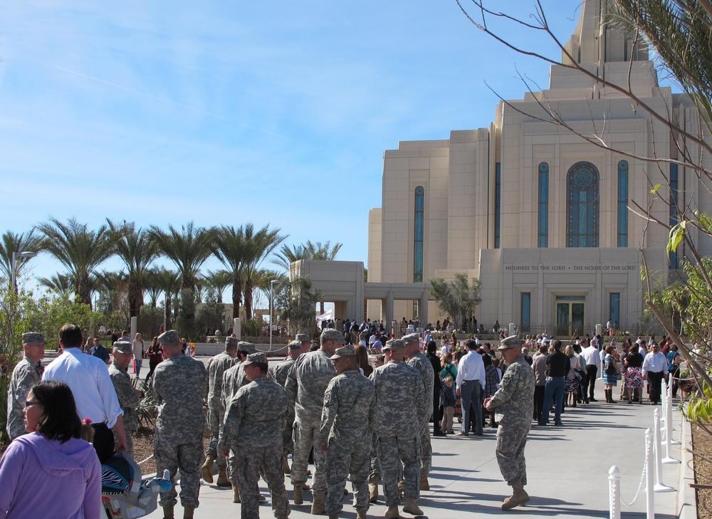 Arizona Army National Guard Chaplain Corps tours LDS Temple
