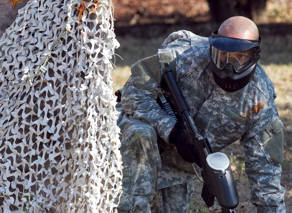 Paintball enhances realism in Army Reserve unit's training