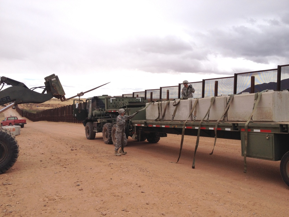 Arizona soldiers, US CBP unite to secure border hot spot