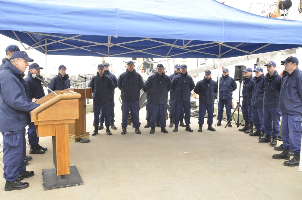 Coast Guard bids farewell to cutter with historic ties