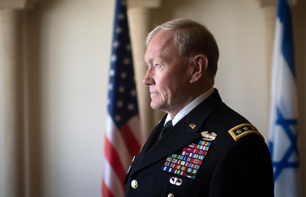 Gen. Martin E. Dempsey waits to meet with Israeli Defense Forces leadership