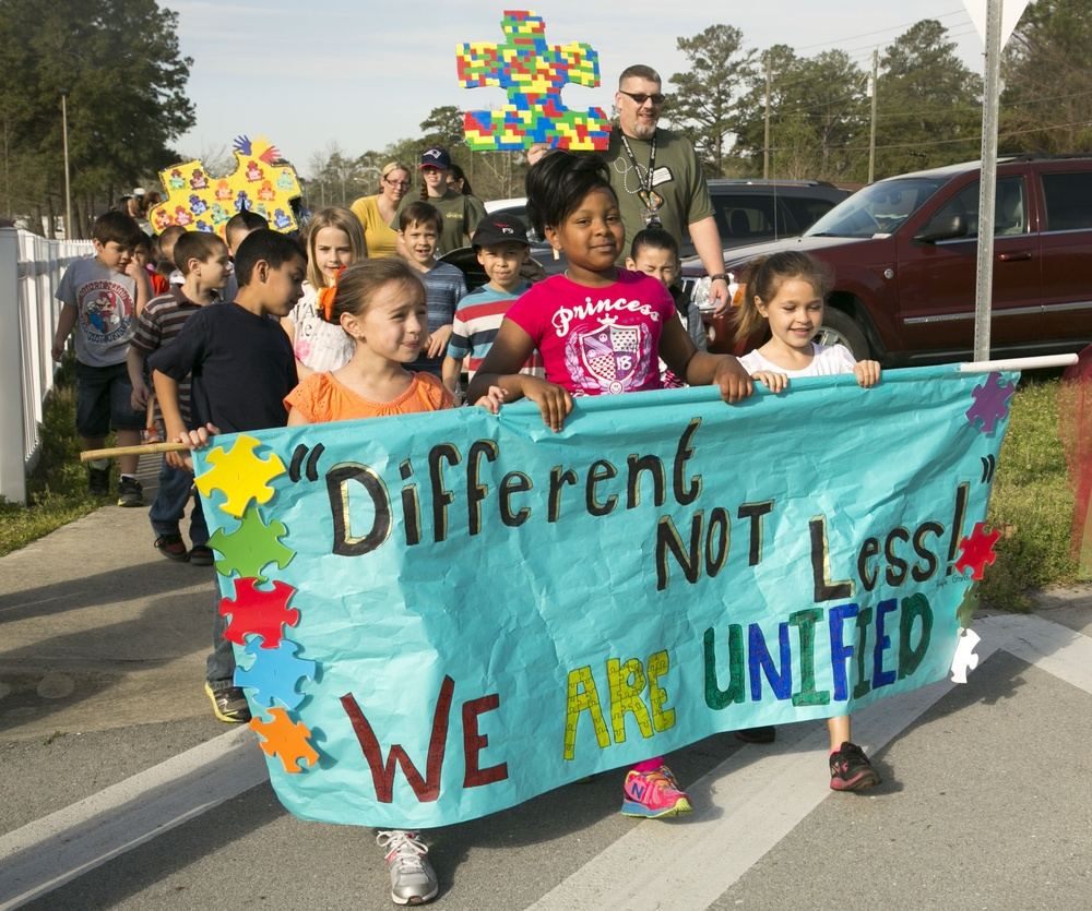 Students, families walk to support Autism Awareness Month
