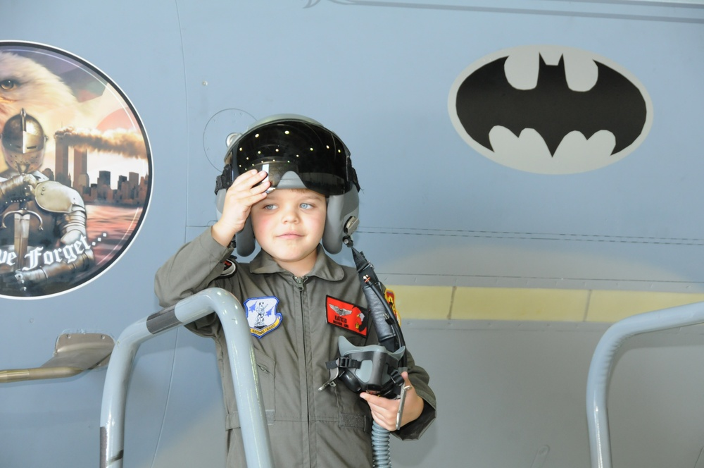 Miles 'Batkid' Scott becomes pilot for a day
