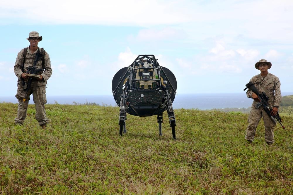 Meeting LS3: Marines experiment with military robotics