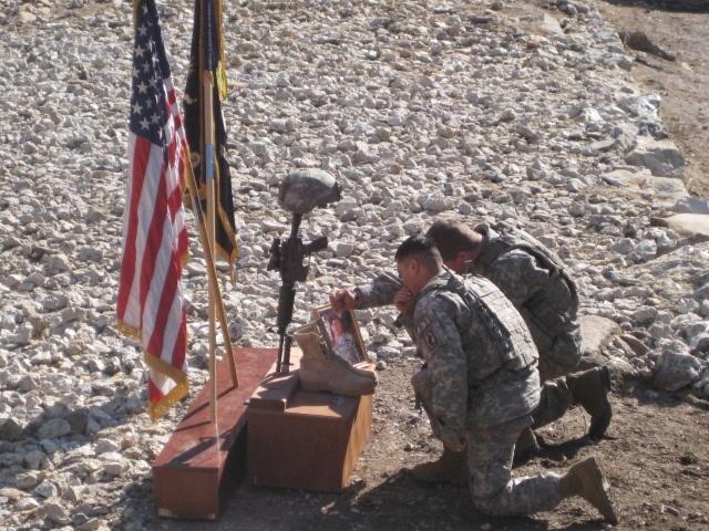 Memorial ceremony at Combat Outpost Bella