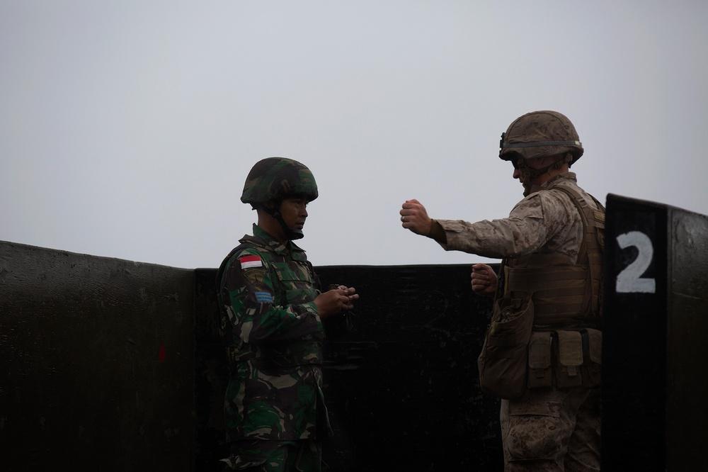 U.S., Indonesia Marines conduct grenade tosses at PTA