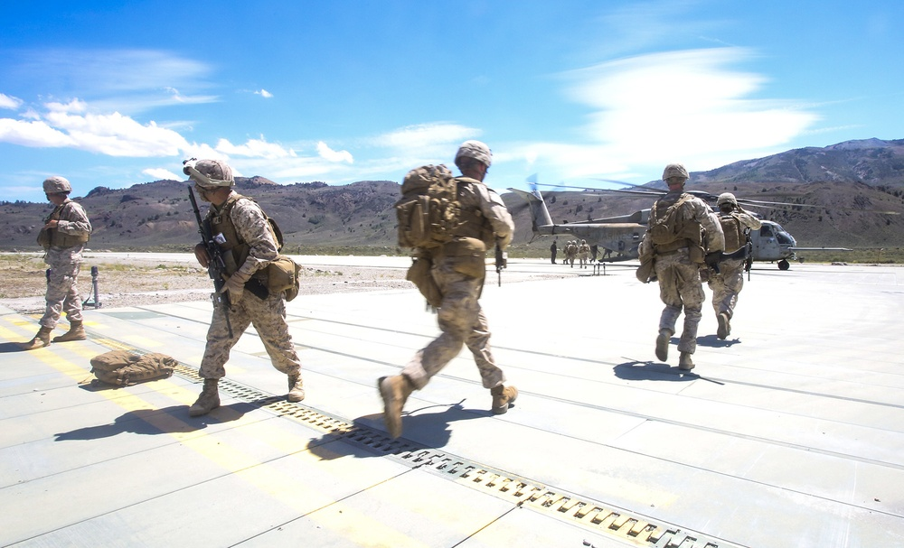 2/7 Marines Execute Evacuation Drills for Large Scale Exercise 2014