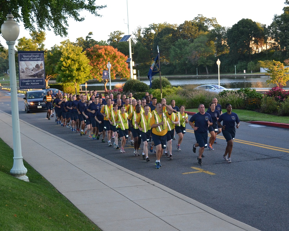 Fort Meade chiefs and selectees conduct Annapolis Heritage Run