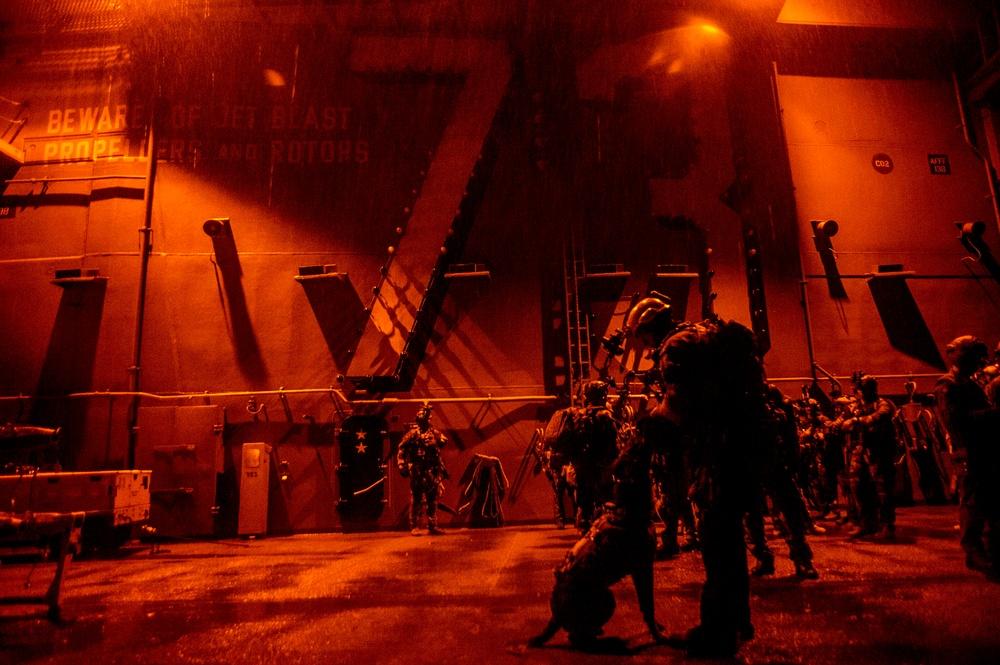SEALs, Marines use USS George Washington as forward staging base