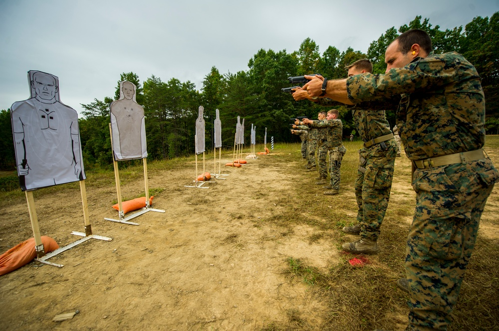 Scout Snipers conduct field training at TBS