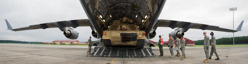 Tanks on a plane