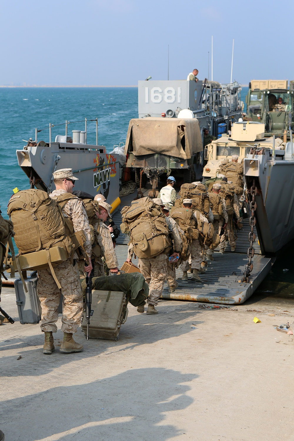 11th MEU Marines return to USS Comstock from Red Reef 15