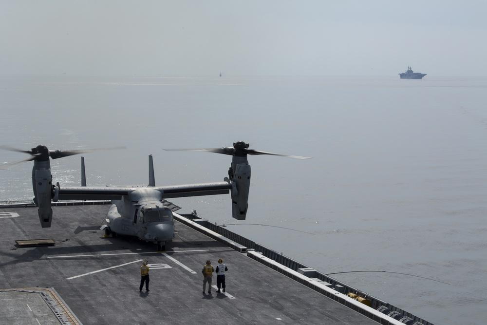 Osprey makes first ever landing on Republic of Korea amphibious assault ship