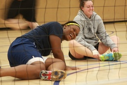 Team USA volleyballer comes to help, leaves inspired