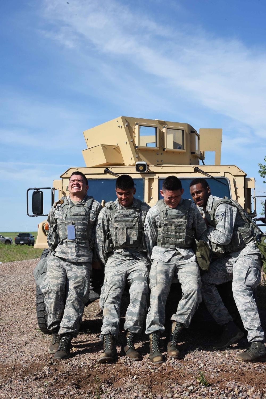 Defenders compete in Aces Cop Combat Challenge