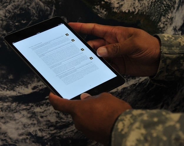 Army moves to e-publishing