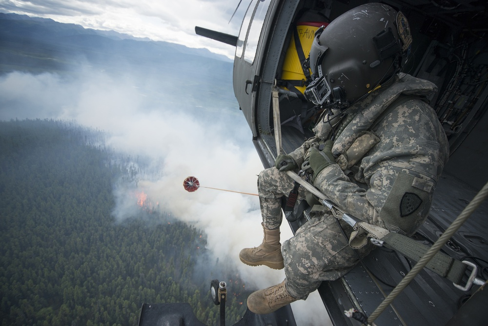 Alaska National Guard fights Alaska wildfires