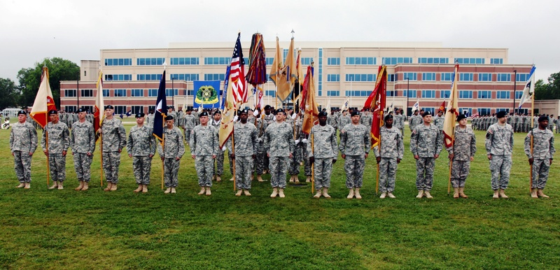 The 501st SBDE, Champions brigade, is honored with the Distinguished Unit of the Regiment streamer