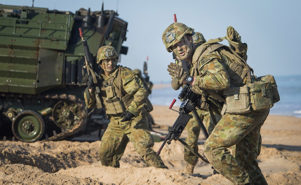U.S. Marines and Australian Army Amphibious Assault