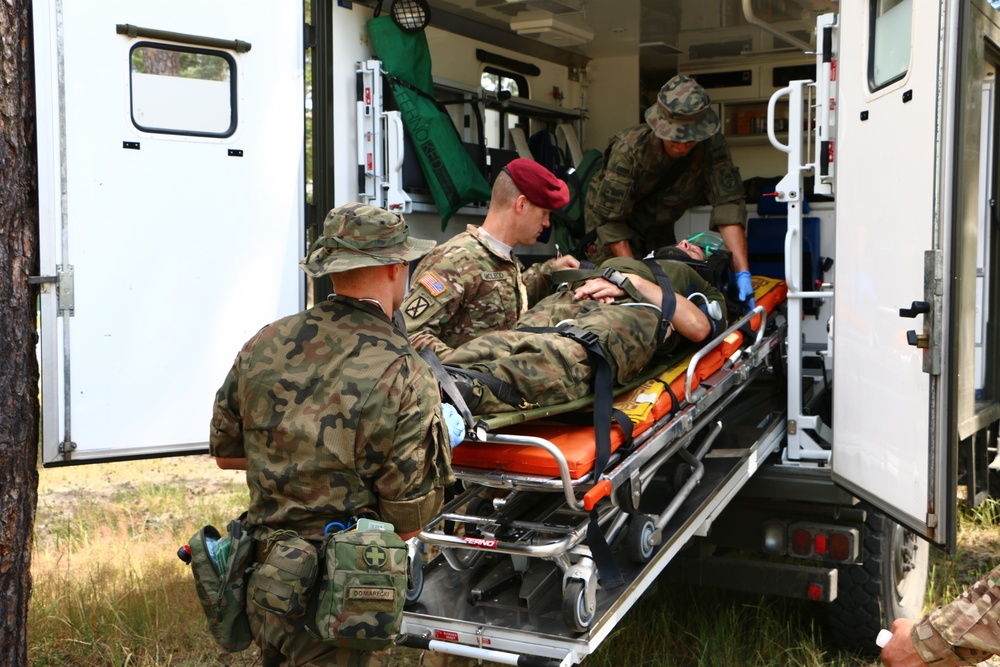 Providing care in the clinic, on the drop zone