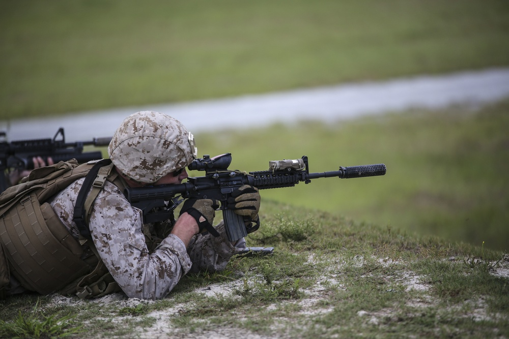 Through the scope: 2nd Battalion, 6th Marines prepares weapons, Marines for deployment
