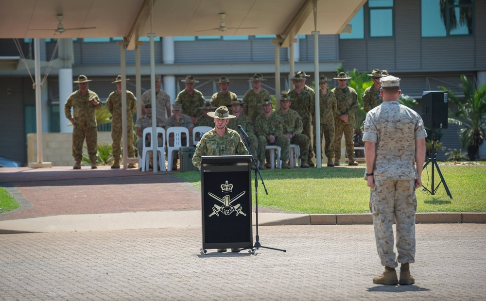 Commanding general, 3rd Marine Division and commander, 1st Brigade, Australian Army recognize Marine Rotational Force – Darwin