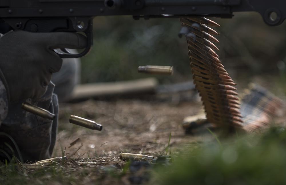 Feeding bullets, machine gun style