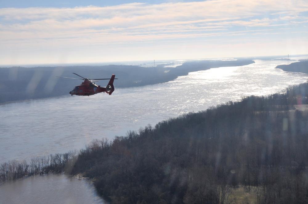 Coast Guard overflight near Cape Girardeau
