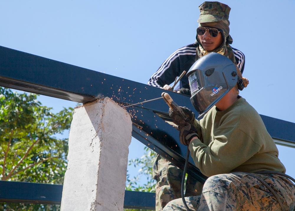 U.S., Thai Marines build school together