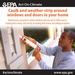 Caulk and weather-strip your windows and doors