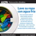 Wash your clothes in cold water (Spanish)