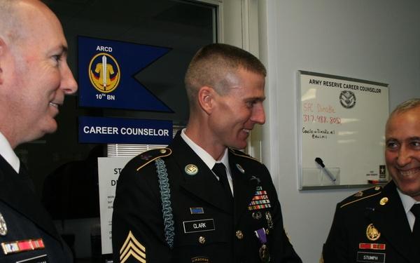 95th Training Division (IET) Iraqi Freedom veteran receives Purple Heart