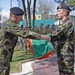 Irish flag lowering ceremony