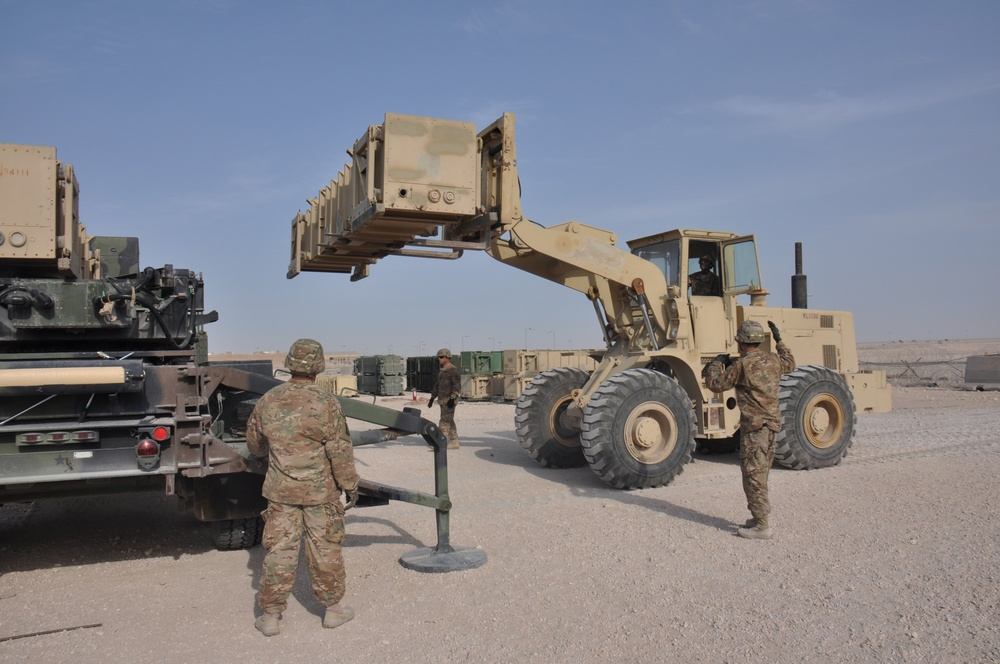 Patriot Battery defends AUAB from airborne threats