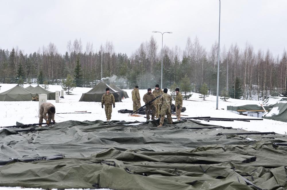 Iron Troop prepares for winter camp exercise in Estonia
