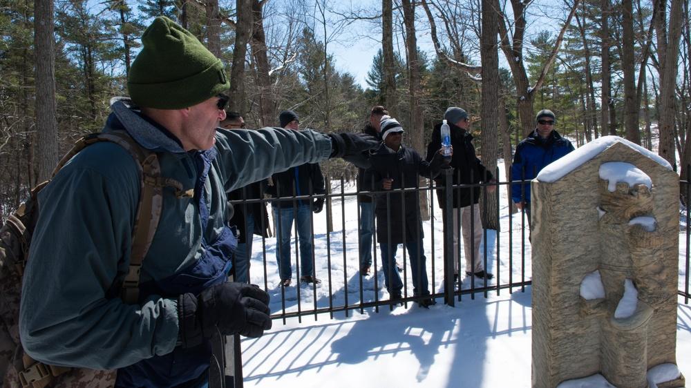 Marines visit battle site of Revolutionary War